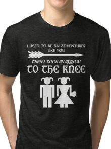 I used to be an adventurer (White) Tri-blend T-Shirt