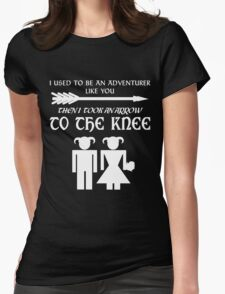 I used to be an adventurer (White) Womens Fitted T-Shirt