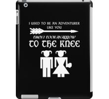 I used to be an adventurer (White) iPad Case/Skin