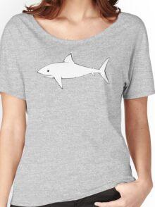 Shark Pattern Sky Blue Women's Relaxed Fit T-Shirt