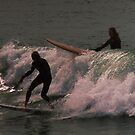 Late afternoon surfers at Yamba by myraj