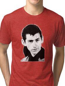 alex turner black and white Tri-blend T-Shirt