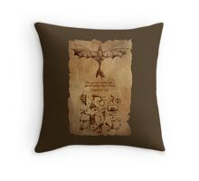 DaVinci's Dragon (Hiccup's Sketchbook) Throw Pillow