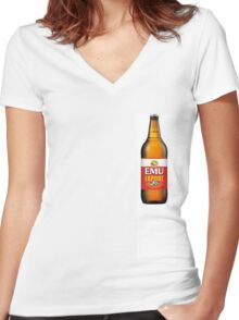 Emu export for West aussies  Women's Fitted V-Neck T-Shirt