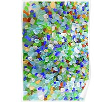 Pale Sea Glass or Beach Glass Poster