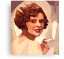 Woman with a cigarette Canvas Print