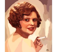 Woman with a cigarette Photographic Print