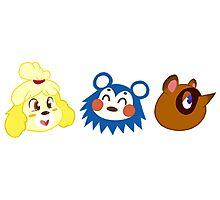 Animal Crossing Sticker Pack #1 Photographic Print