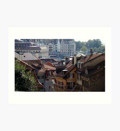 View Of Lausanne Art Print