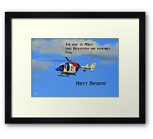 Helicopter Birthday Framed Print