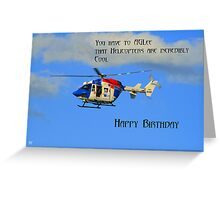 Helicopter Birthday Greeting Card