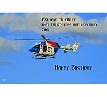 Helicopter Birthday Photographic Print