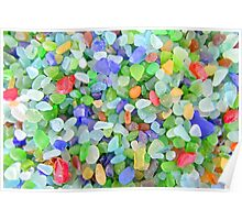 The Many Colors of Sea Glass Poster
