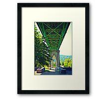 Under St. Johns Bridge Framed Print