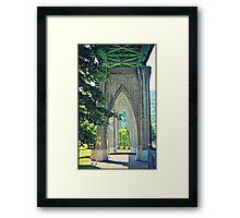 Through St. Johns Bridge Framed Print