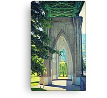 Through St. Johns Bridge Canvas Print