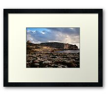 History In Stone Framed Print