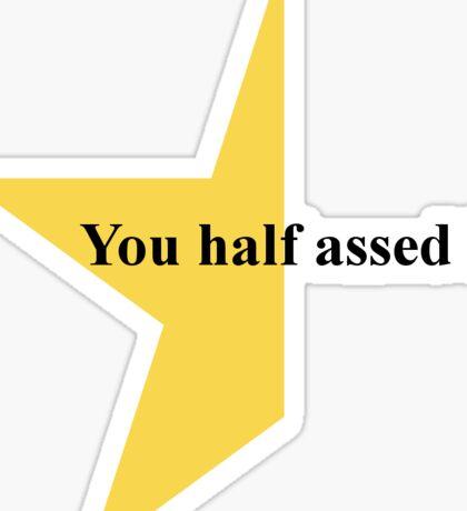 Gold Star for Effort Sticker