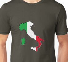 Italy Map With Italian Flag Unisex T-Shirt