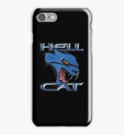 Hellcat Head - B5 Blue iPhone Case/Skin