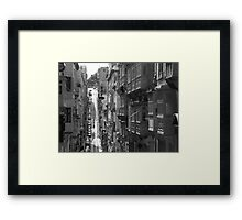 Hills And Balconies Framed Print