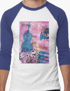 Pink Serenade Faux Chine Colle 2 Men's Baseball ¾ T-Shirt