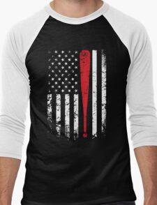 Baseball American Flag USA Support T-Shirt Men's Baseball ¾ T-Shirt
