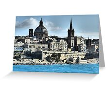 Valletta Waterfront Greeting Card