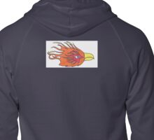 Flaming Eagle  Zipped Hoodie