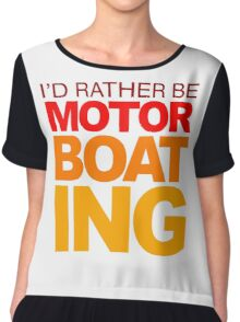 I'd rather be Motor Boating Orange Fade Chiffon Top
