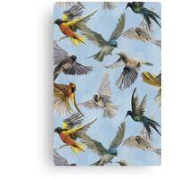 Womens T-Shirt Dress Birds in Flight Canvas Print