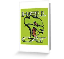 Hellcat Head - Sublime Greeting Card