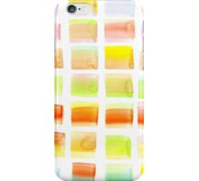 Hand-Painted Watercolor Colorful Pastel Rectangle Brush Strokes iPhone Case/Skin