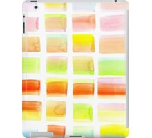 Hand-Painted Watercolor Colorful Pastel Rectangle Brush Strokes iPad Case/Skin