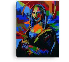 Abstract Mona Lisa Canvas Print