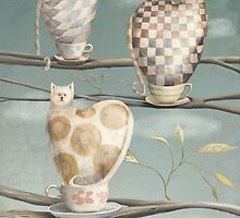 Cats in Cups by fizzyjinks