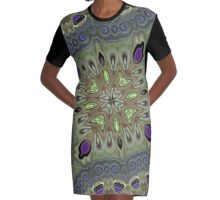 Orchid Corners Graphic T-Shirt Dress