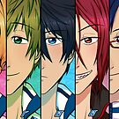Free! Line Up! by scarlet-neko