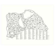 Race Tracks to Scale V2 - Listed and Labelled Art Print