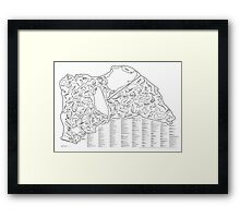 Race Tracks to Scale - Listed and Labelled Framed Print