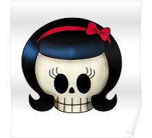 Sweet Rockabilly Girl Skull Poster