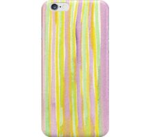 Watercolor Handpainted Purple Yellow Green Stripes iPhone Case/Skin