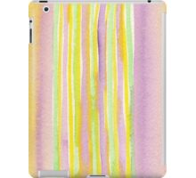 Watercolor Handpainted Purple Yellow Green Stripes iPad Case/Skin