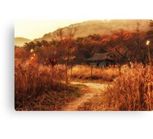 Fall colors of Korean temple Canvas Print