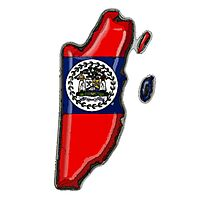 Belize Map With Flag of Belize Photographic Print