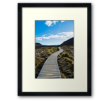 Boardwalk in Tongariro National Park (1) Framed Print