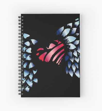 Winged Heart Spiral Notebook