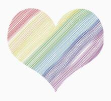 LGBT Pride Heart Kids Tee