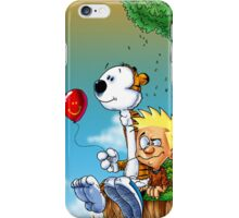 calvin and hobbes ballon iPhone Case/Skin