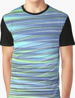 Green-Blue Waves Graphic T-Shirt